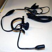 Earhook Nappi-HF Tangentilla ja puomi microfonilla - Korvakuulokkeet mikrofonilla - 6418312701401 - 1