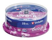 DVD+R Matt hopea 4.7 GB 16x Spindle 25 kpl - DVD-RW - 0023942435006 - 1