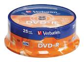 DVD-R mattahopea 4.7 GB 16x Spindle 25 kpl - DVD-RW - 0023942435228 - 1